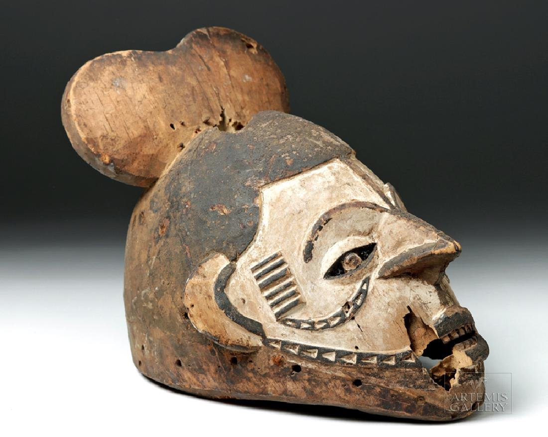 20th C. African Igbo Wooden Mask for Okperegede