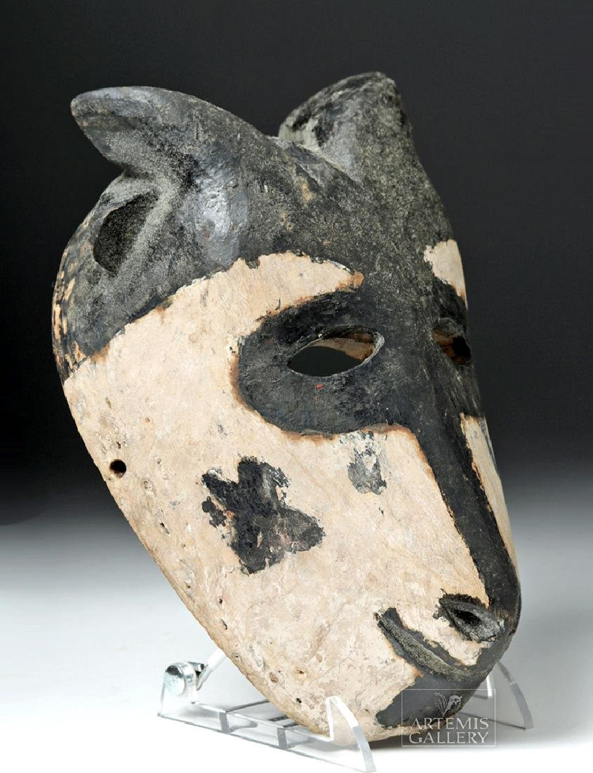 Early 20th C. African Wooden Ogoni Goat Mask