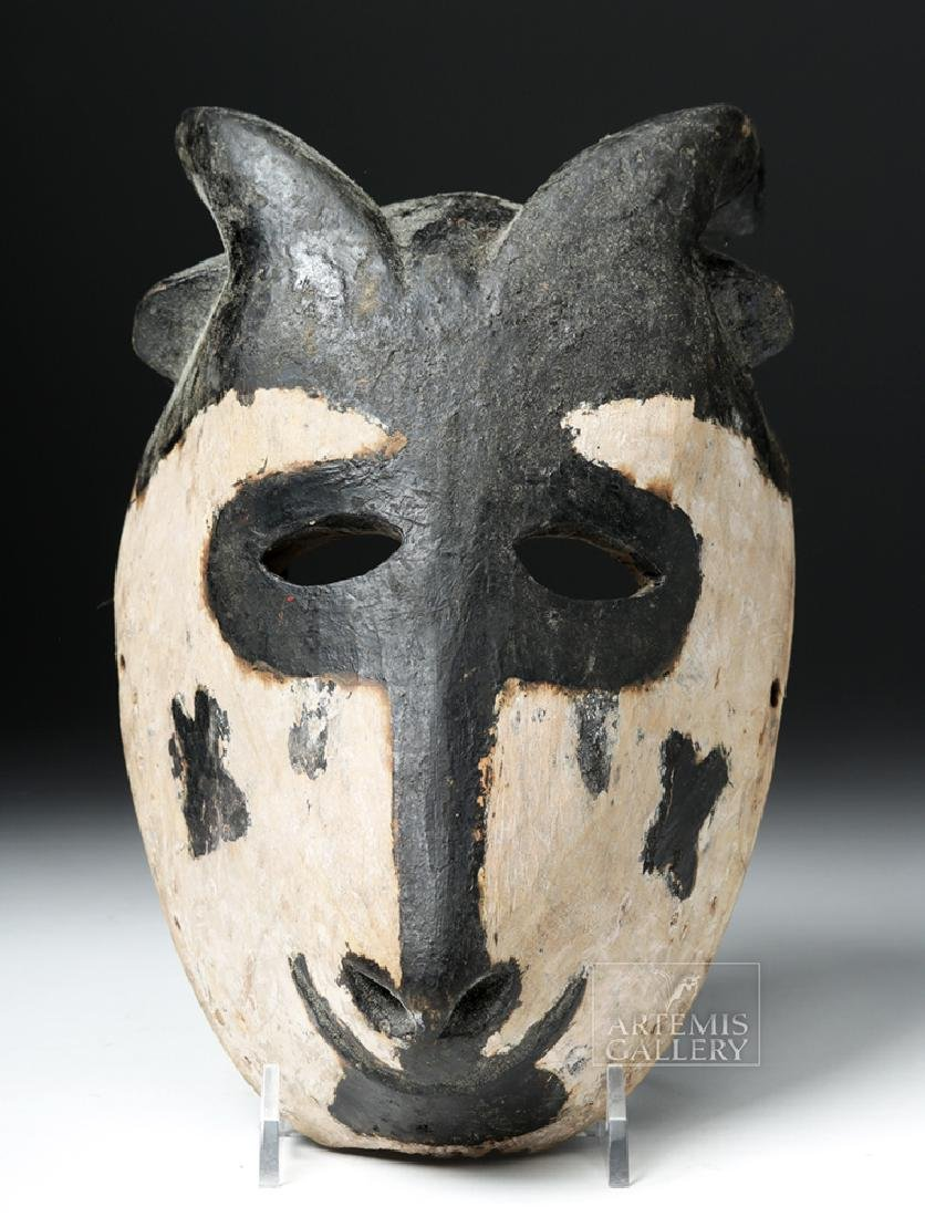 Early 20th C. African Wooden Ogoni Goat Mask - 2