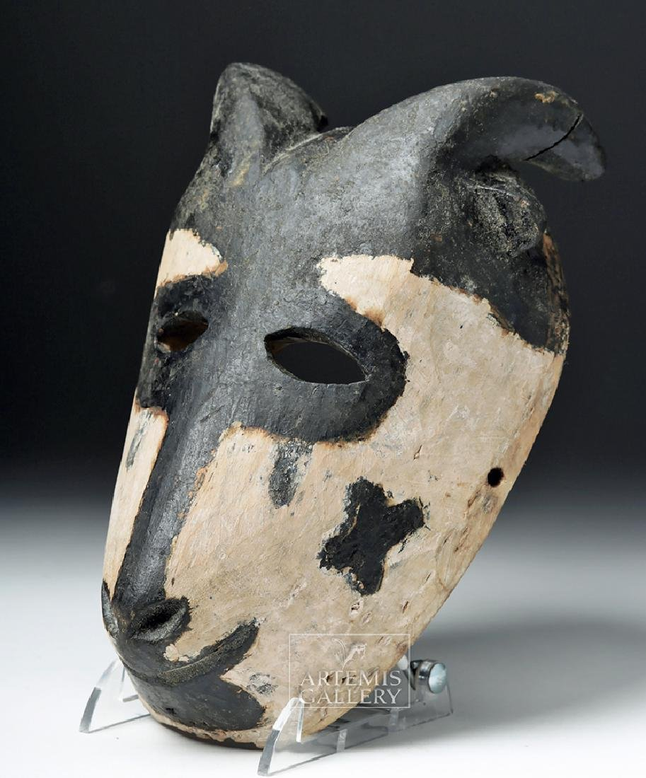 Early 20th C. African Wooden Ogoni Goat Mask - 3