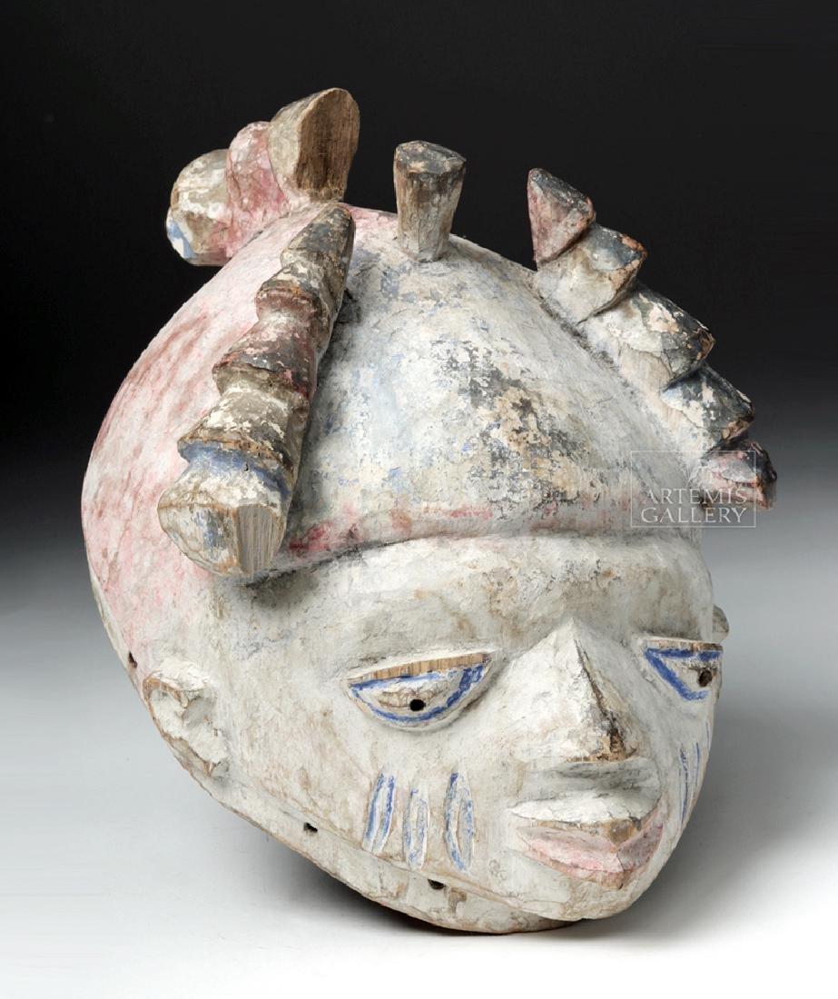 Mid-20th C. African Yoruba Gelede Wooden Helmet Mask