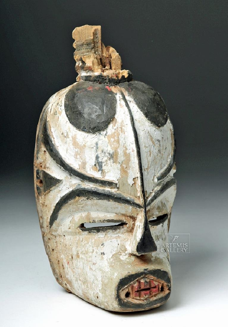 20th C. Nigerian Igbo Wood Agwa Agiriga Mask