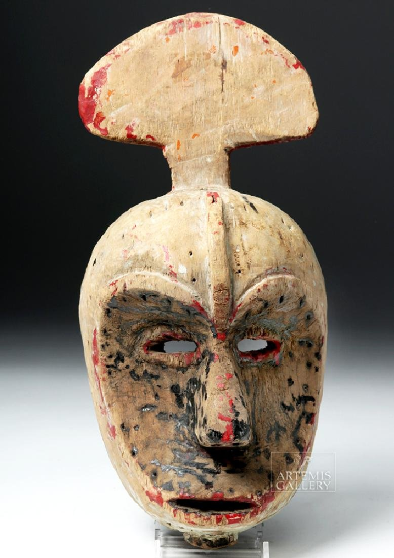 Early 20th C. African Ibibio Wooden Idiok Mask - 2