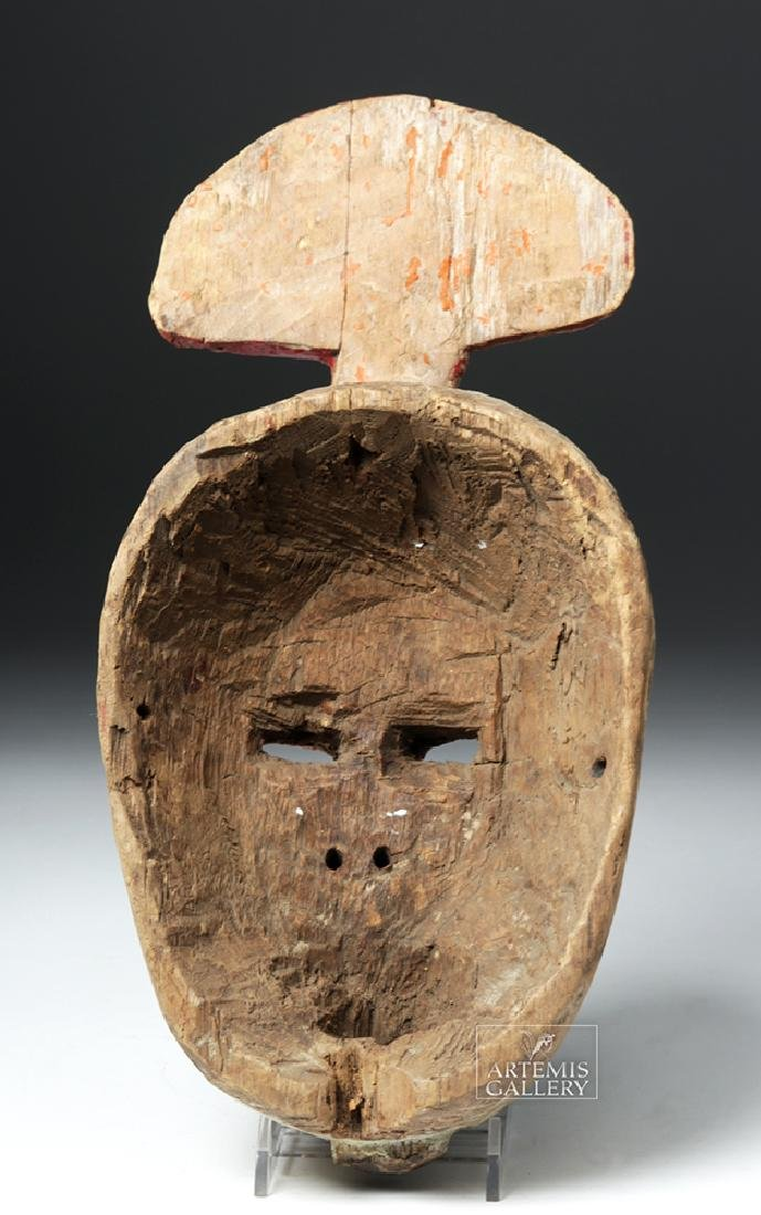 Early 20th C. African Ibibio Wooden Idiok Mask - 4