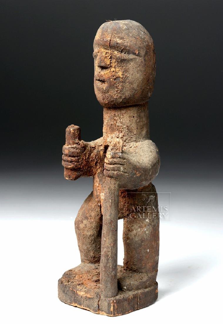 African Fon Wooden Standing Fetish Figure