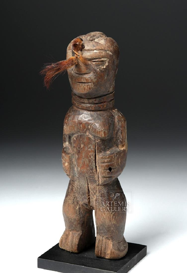 Early 20th C. African Benin Female Wooden Figure