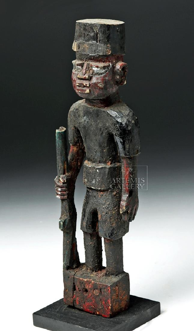 Mid 20th C. Yoruban Wooden Colonial Soldier Figure