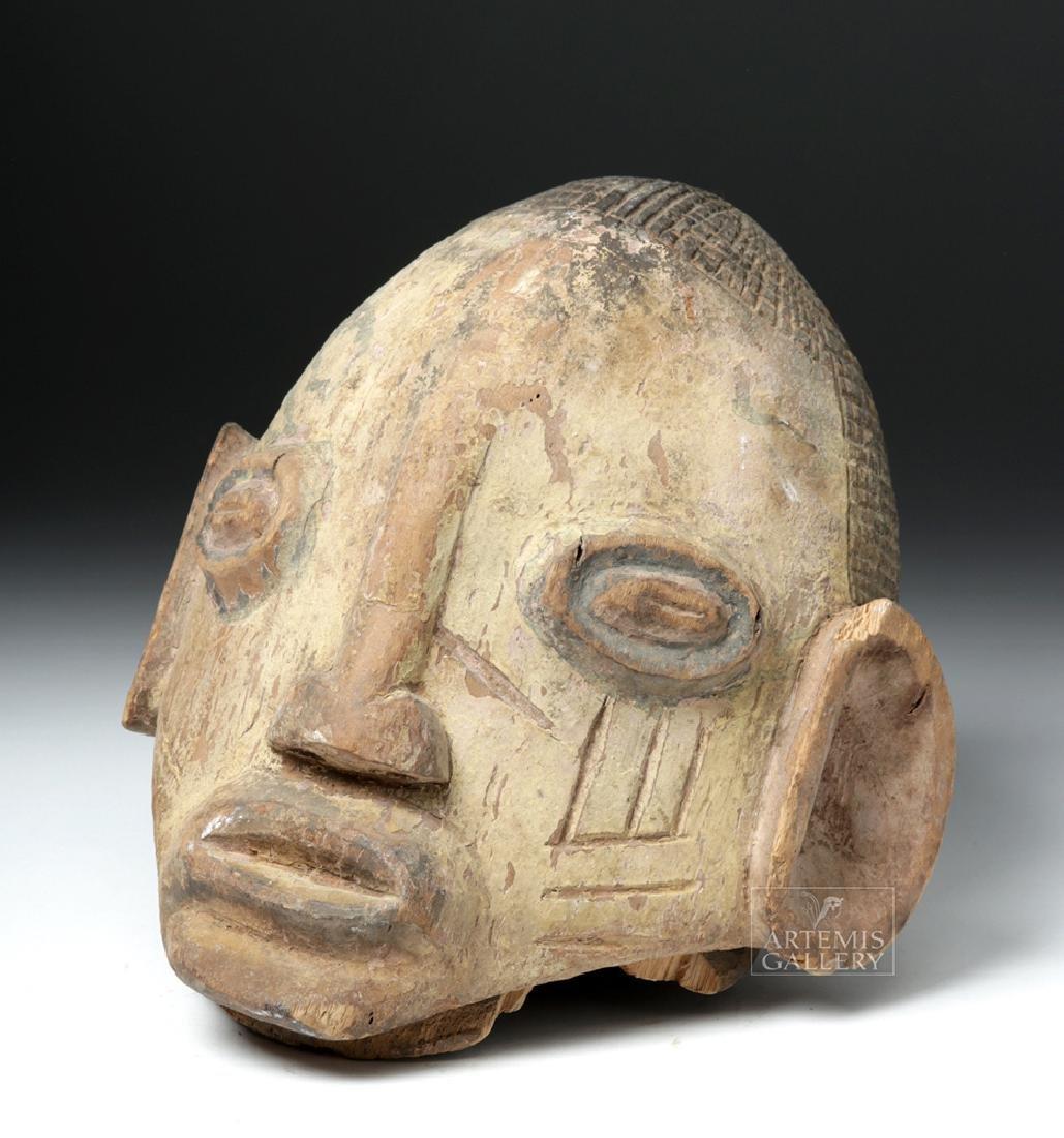 Mid-20th C. African Yoruba Wood Gelede Helmet Mask