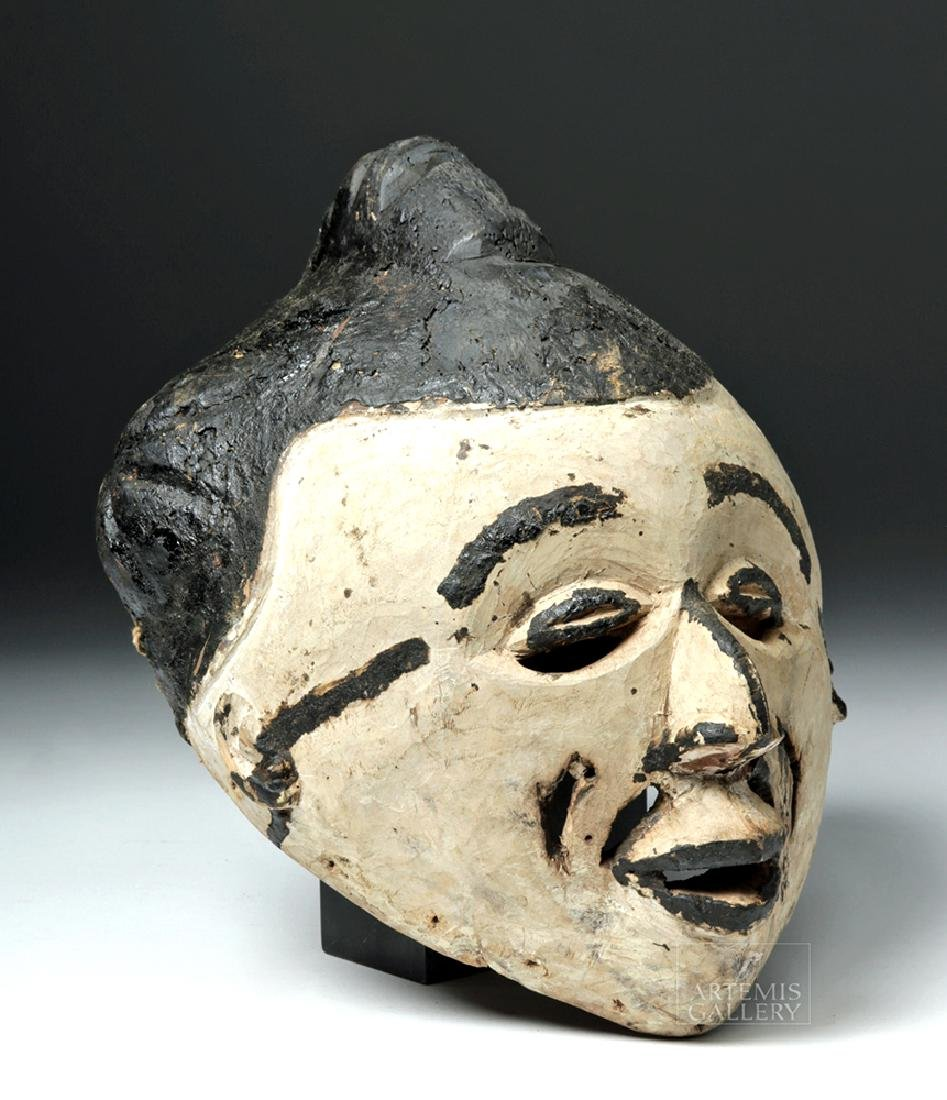 Mid-20th C. African Igbo Wooden Maiden Spirit Mask