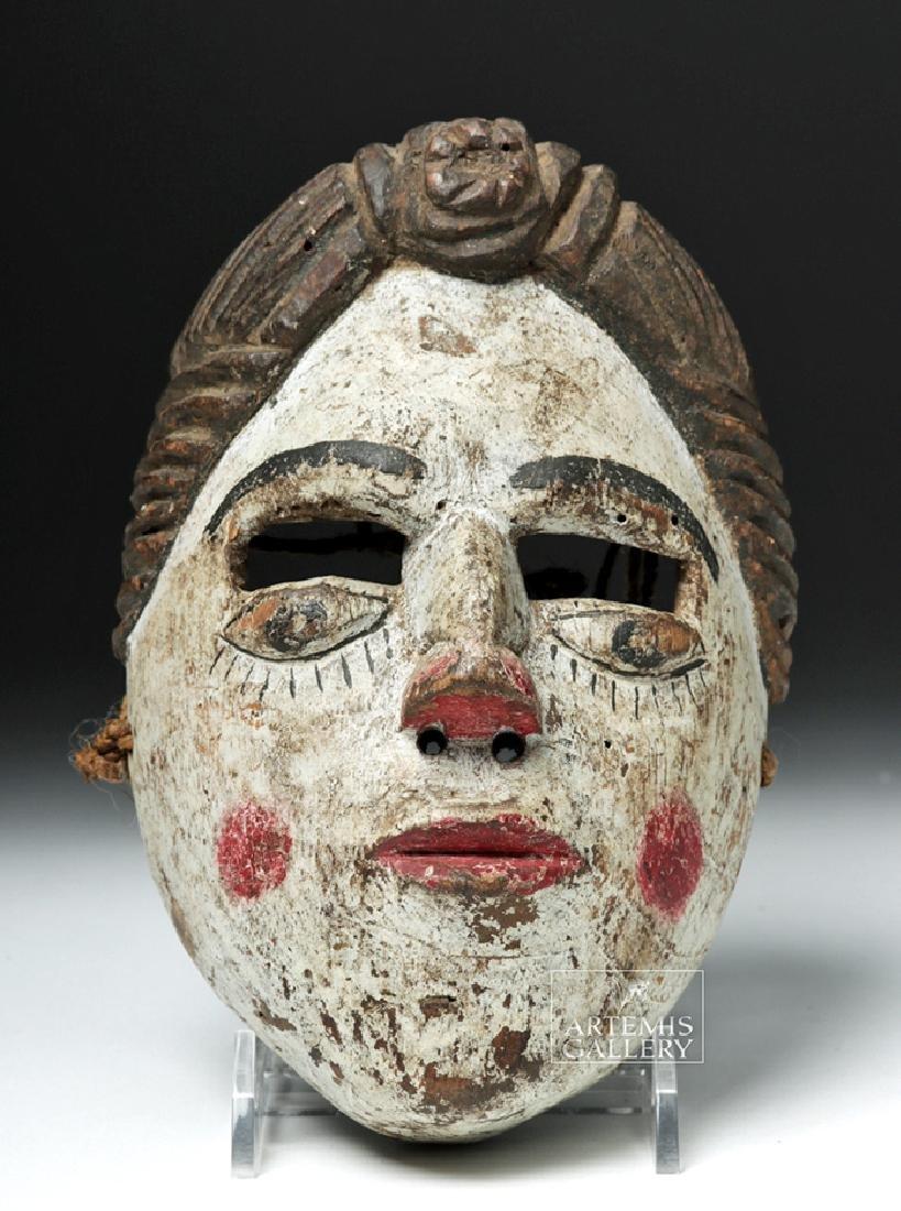 20th C. Guatemalan Folk Art Mask