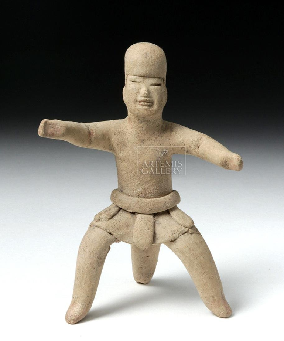 Very Fine Olmec Pottery Seated Figure