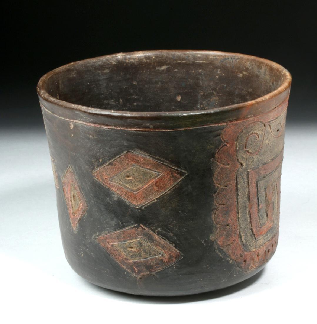 Rare Chavin Polychrome Cylinder - 2
