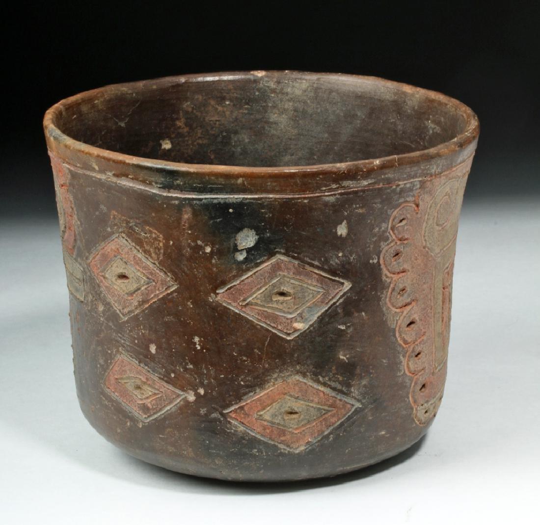 Rare Chavin Polychrome Cylinder - 4