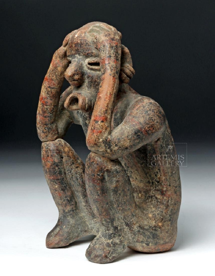 Nayarit Pottery Seated Singing Figure