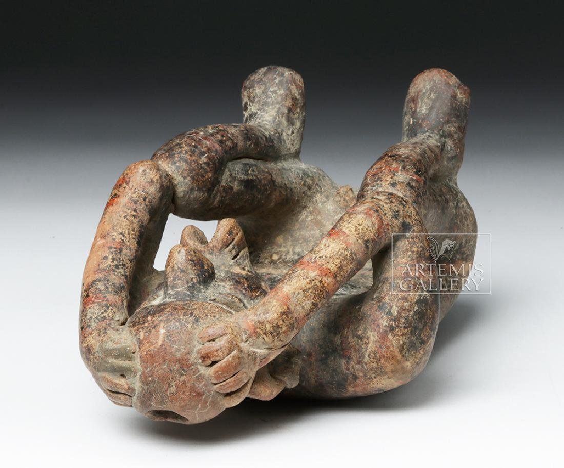 Nayarit Pottery Seated Singing Figure - 7