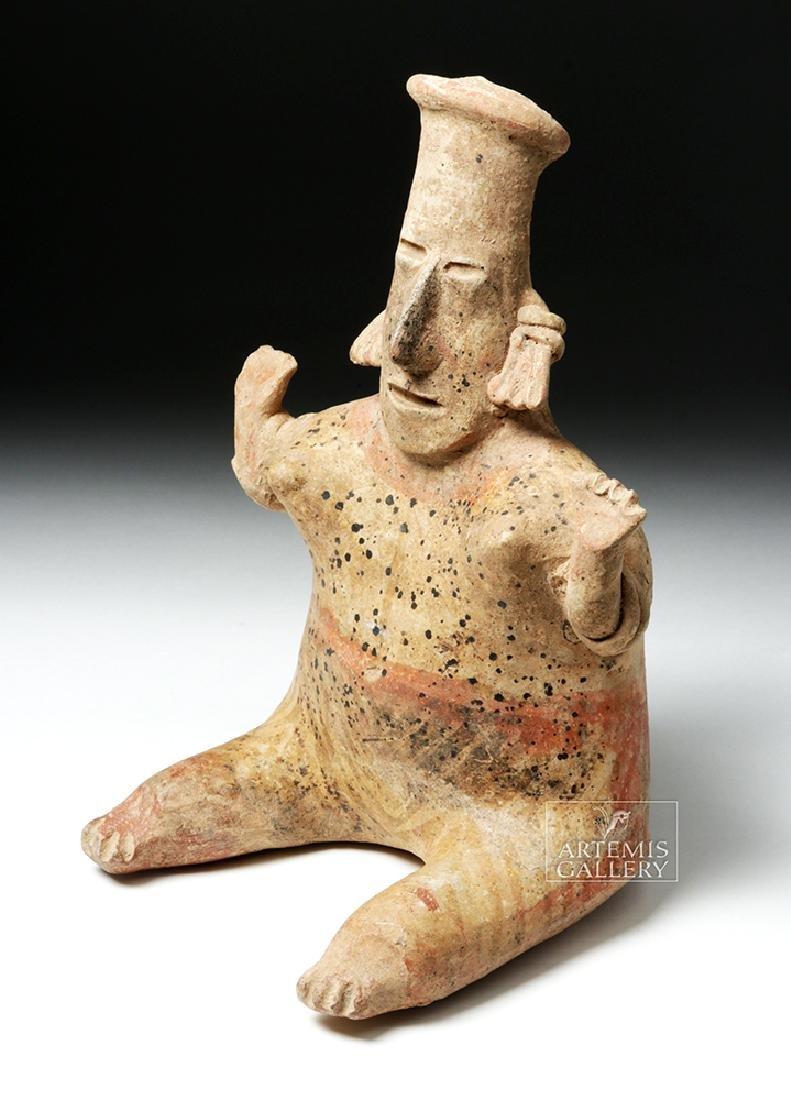 Jalisco San Sebastian Pottery Seated Lady - 2