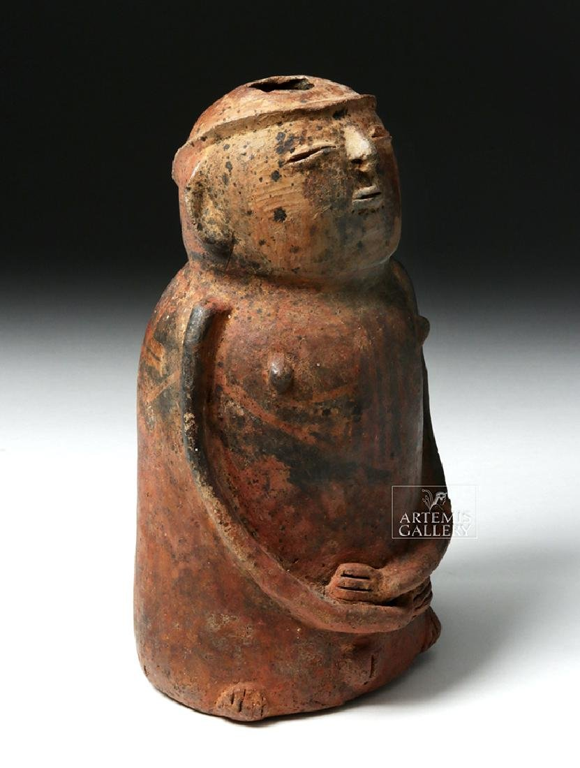 Carchi Narino Pottery Jar in Female Form