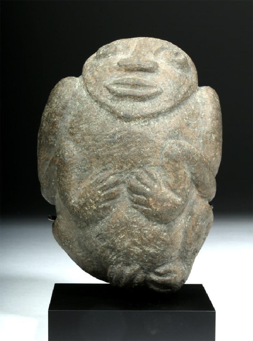 Pre-Columbian Colima Stone Figural Axe God