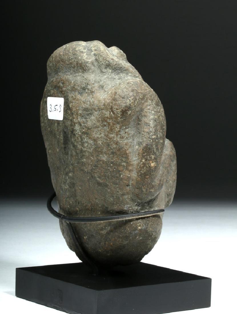 Pre-Columbian Colima Stone Figural Axe God - 4