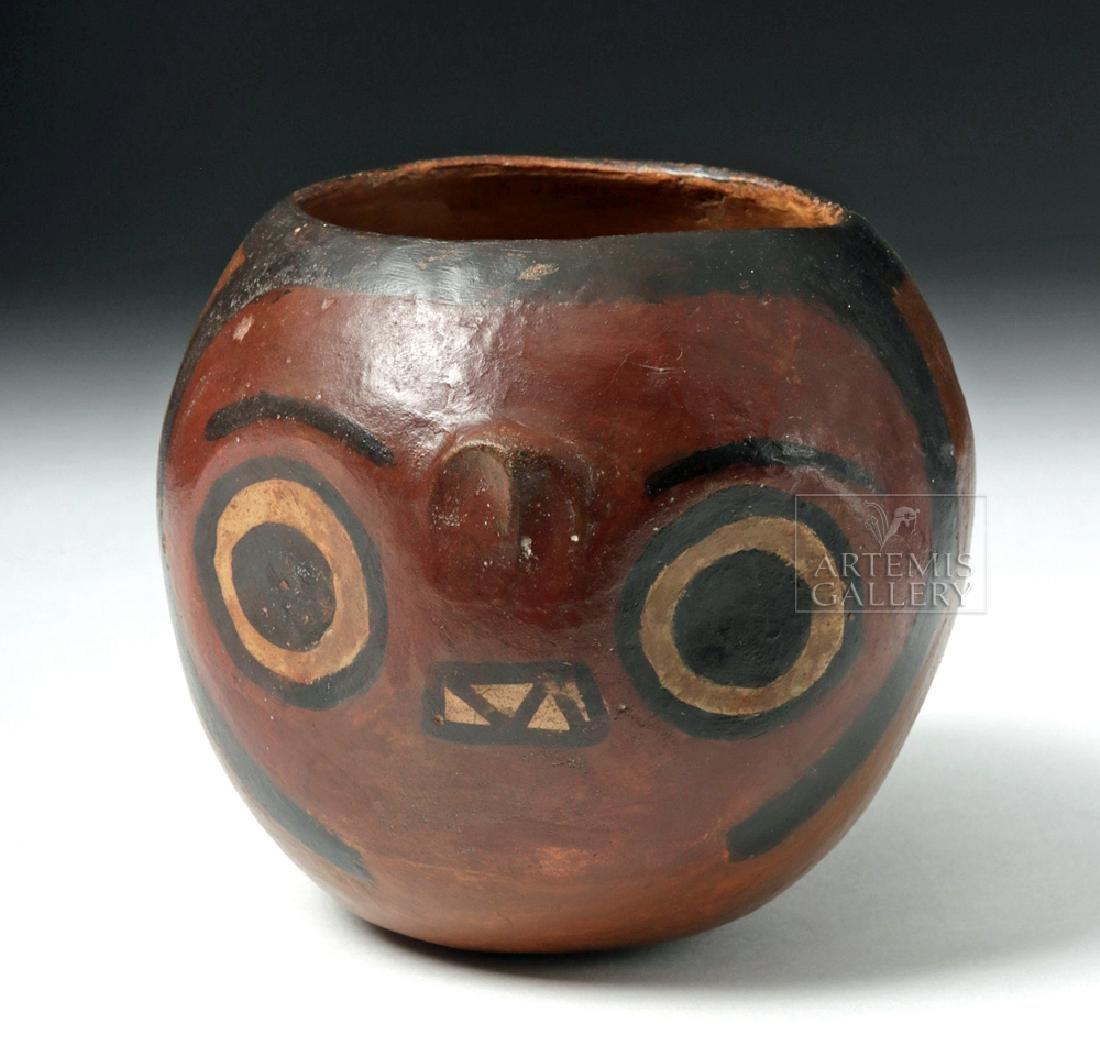 Nazca Pottery Polychrome Skull Cup