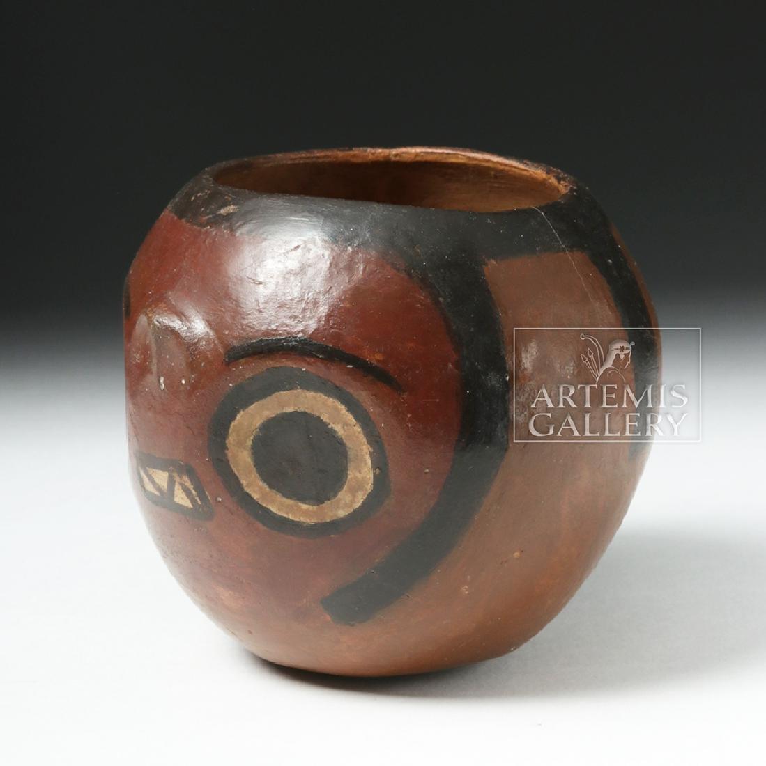 Nazca Pottery Polychrome Skull Cup - 2