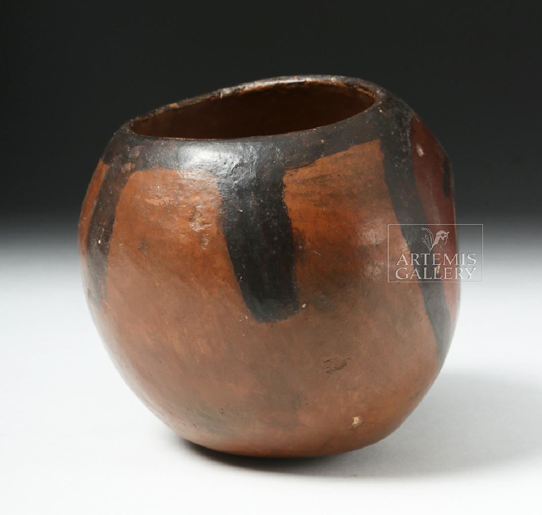 Nazca Pottery Polychrome Skull Cup - 4