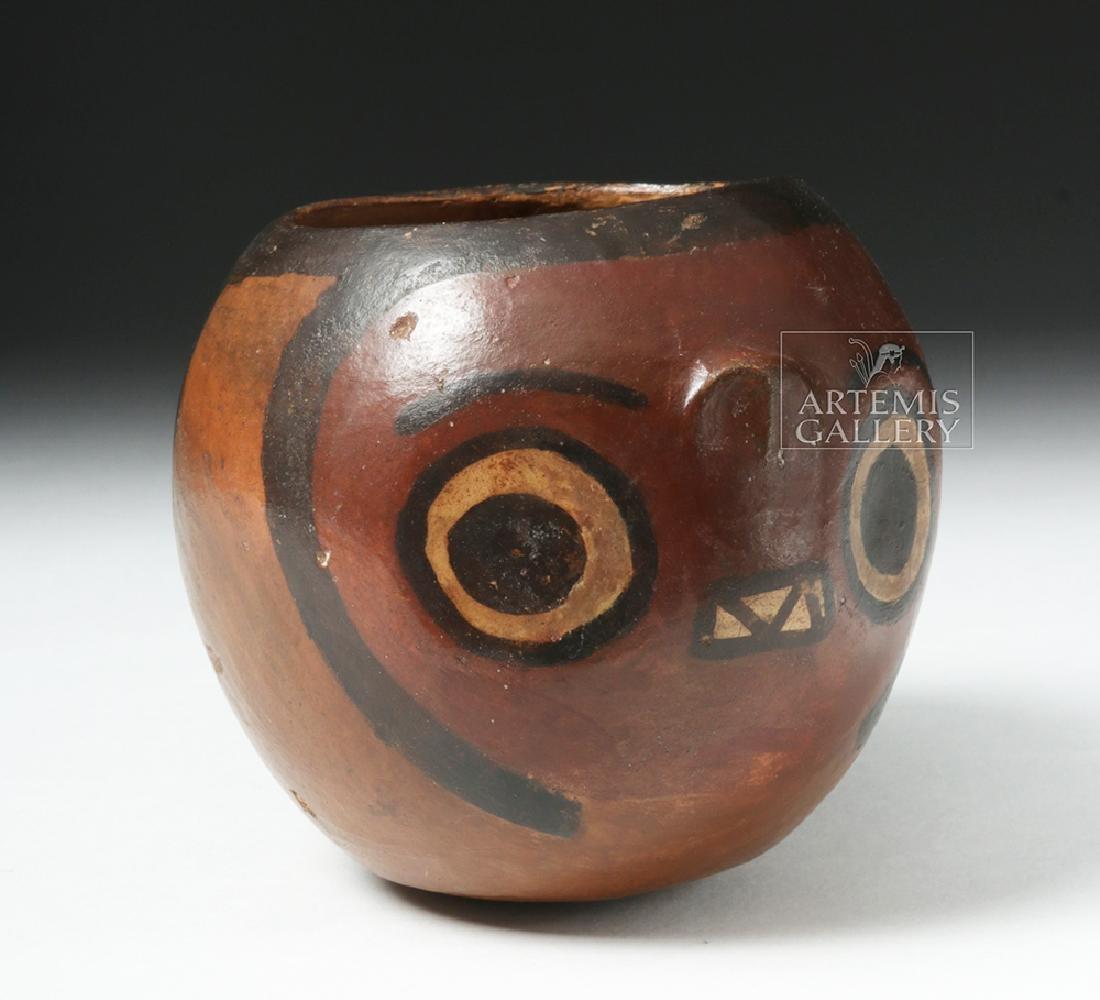 Nazca Pottery Polychrome Skull Cup - 5