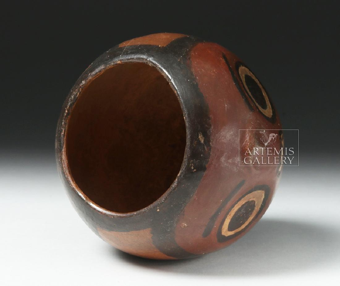 Nazca Pottery Polychrome Skull Cup - 6