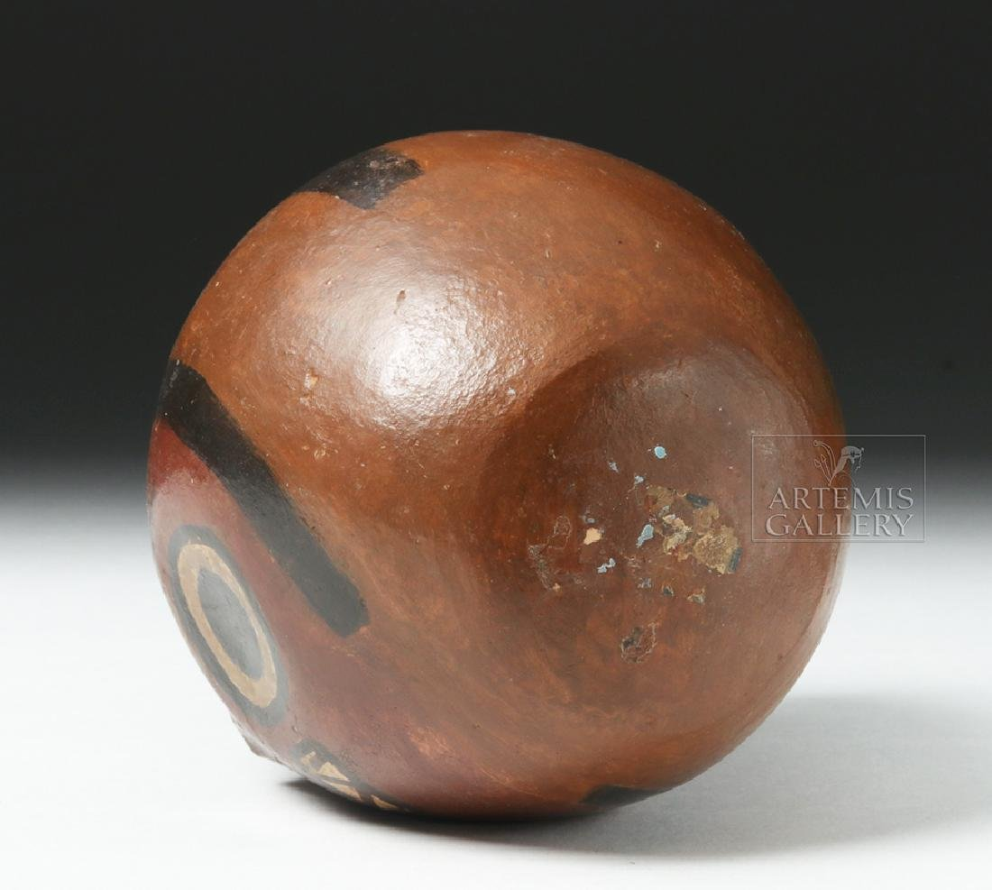 Nazca Pottery Polychrome Skull Cup - 7