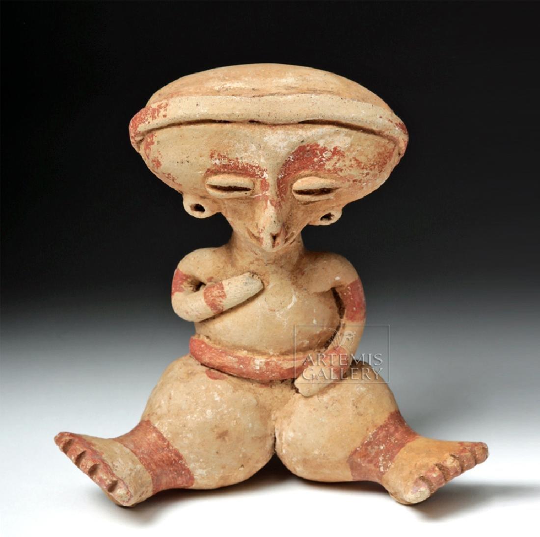 Nayarit Chinesca Pottery Polychrome Seated Female