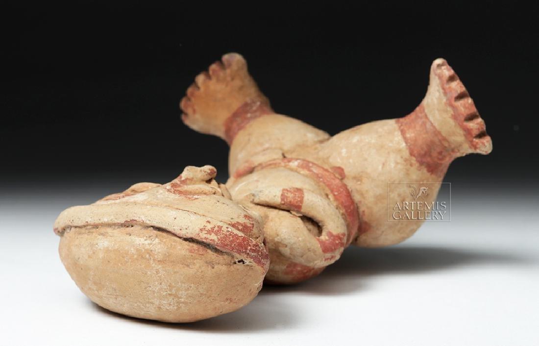 Nayarit Chinesca Pottery Polychrome Seated Female - 7