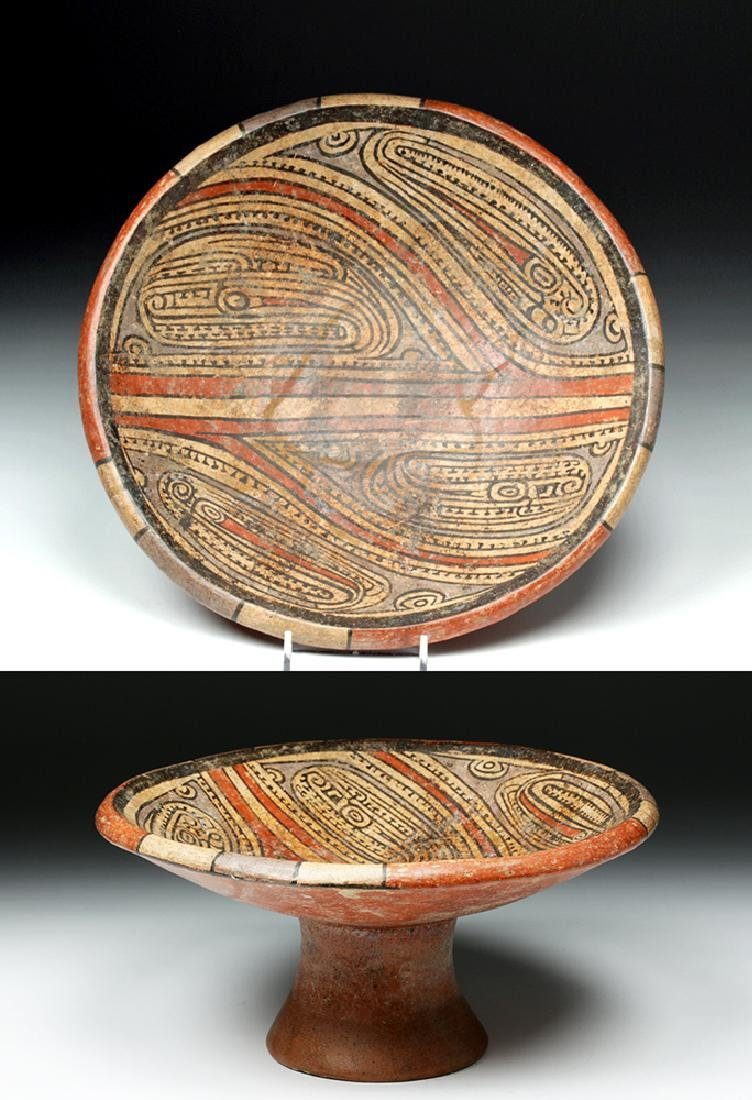 Cocle Pottery Polychrome Pedestal Plate