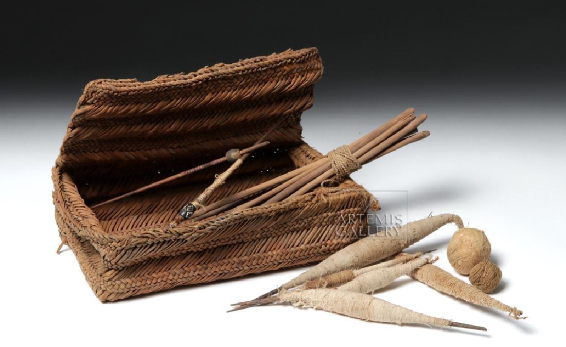 Chancay Weavers Basket w/ Utensils