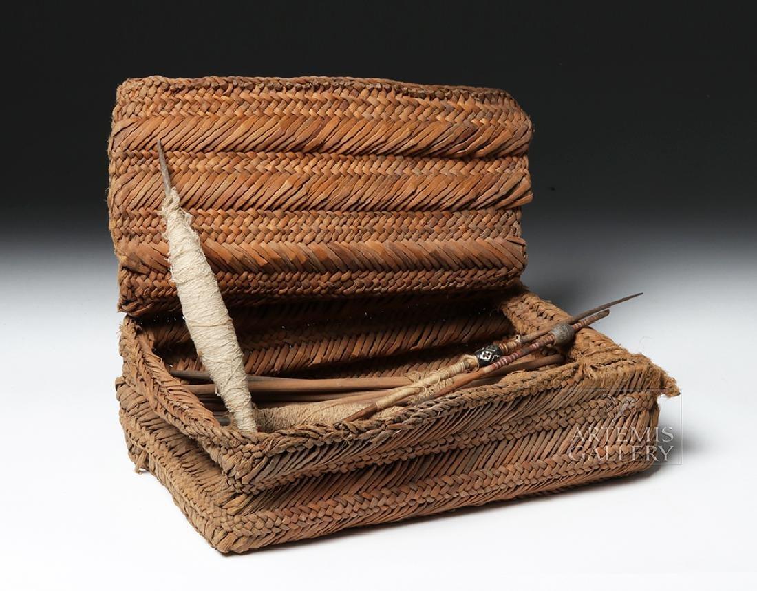 Chancay Weavers Basket w/ Utensils - 2
