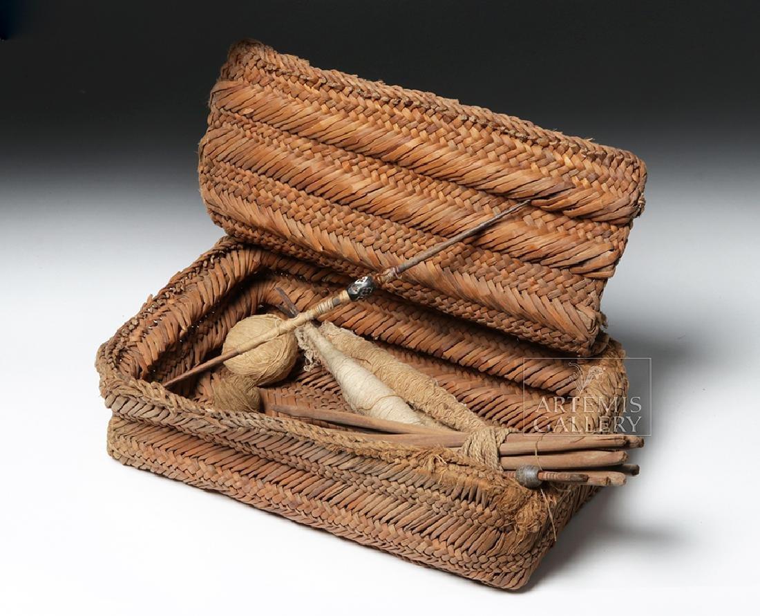 Chancay Weavers Basket w/ Utensils - 5