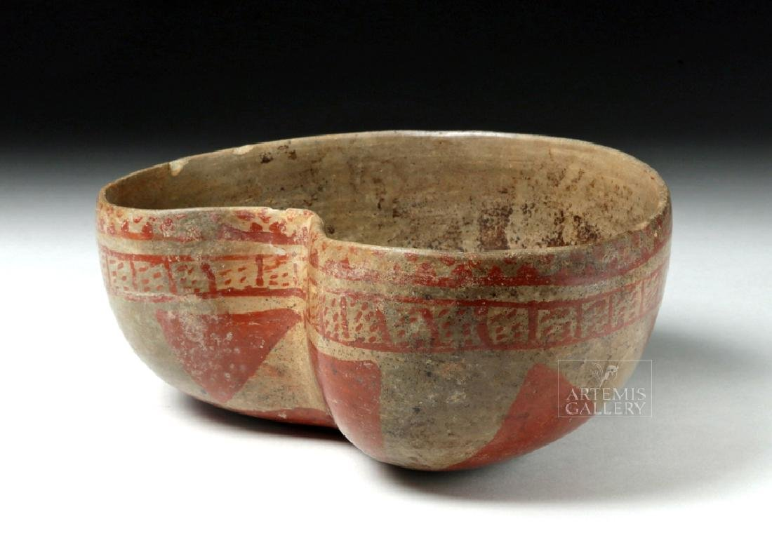Unusual Colima Post Classic Pottery Bowl - Kidney Shape