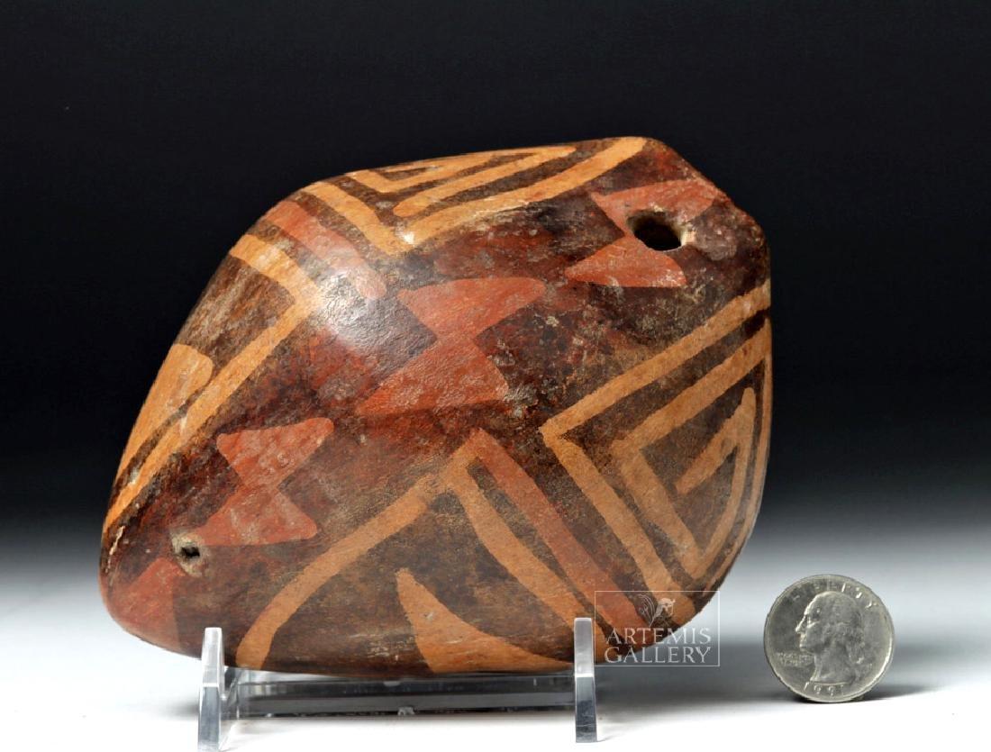 Narino Pottery Polychrome Ocarina - Shell Form