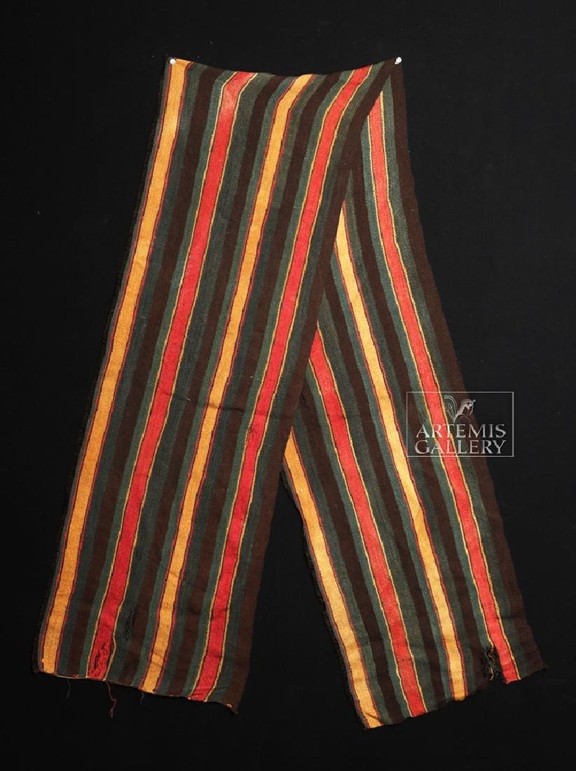 Large / Colorful Inca Textile Sash - 2