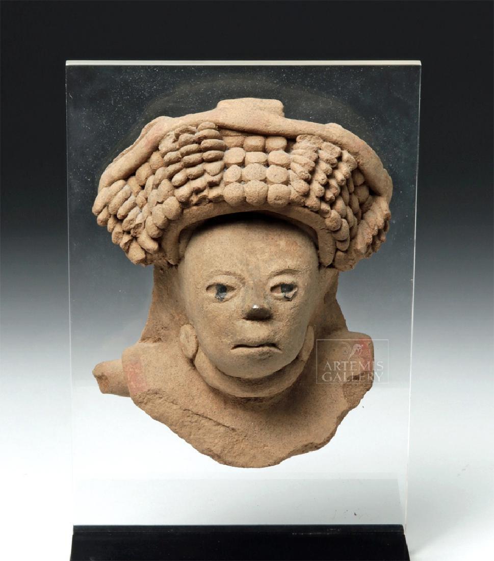 Realistic Veracruz Pottery Portrait Face