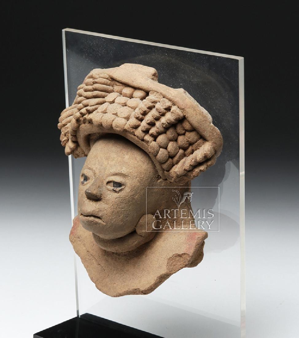 Realistic Veracruz Pottery Portrait Face - 2