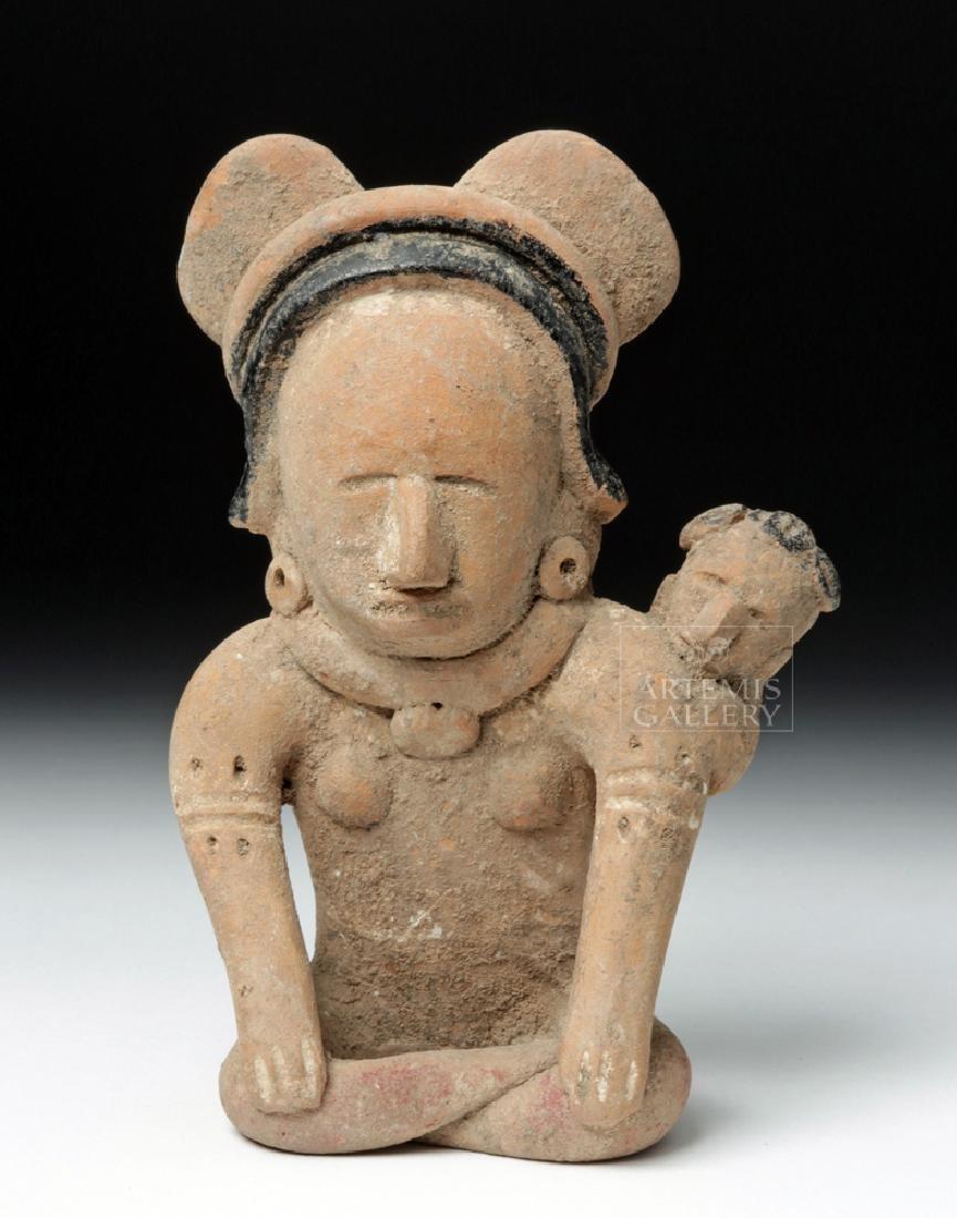 Veracruz Pottery Coaster Watcher Mother w/ Child