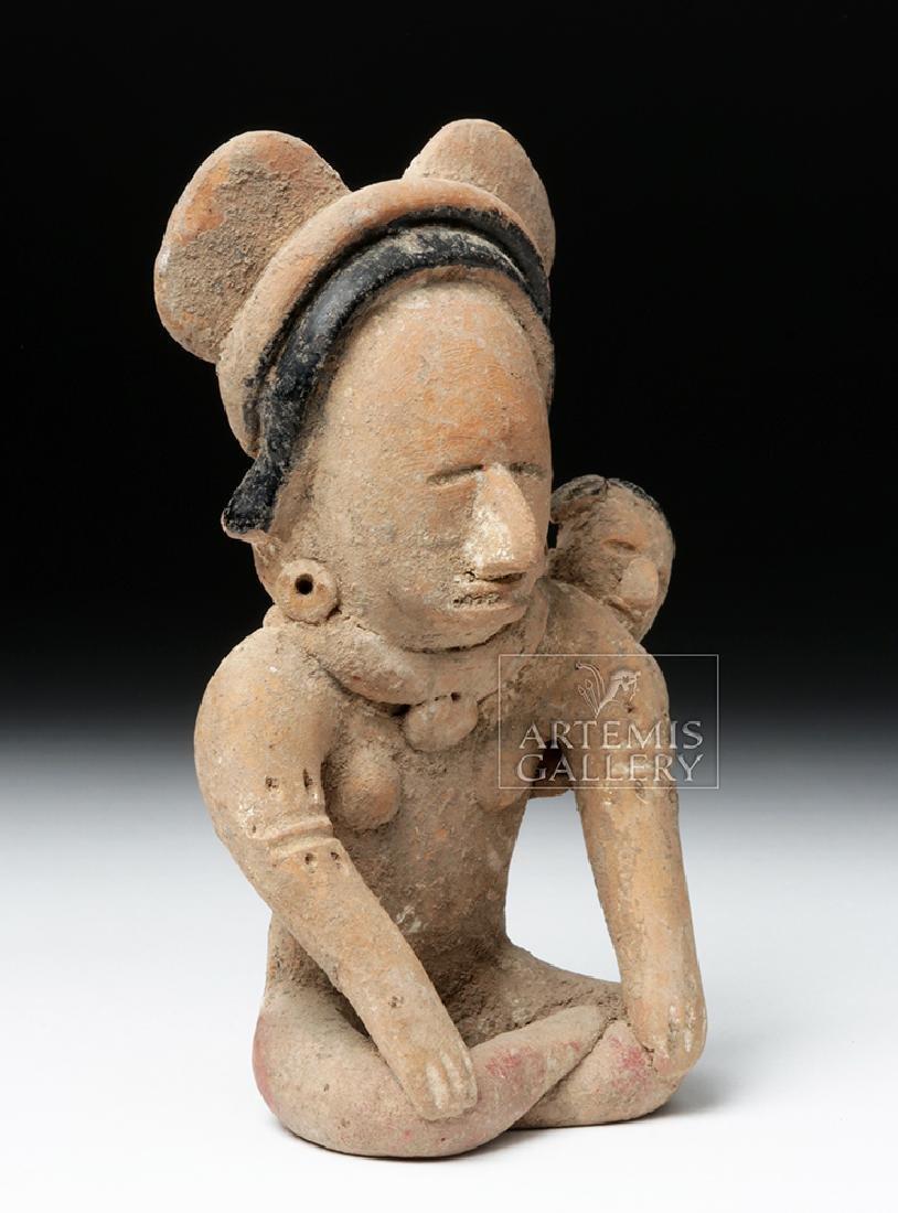 Veracruz Pottery Coaster Watcher Mother w/ Child - 5