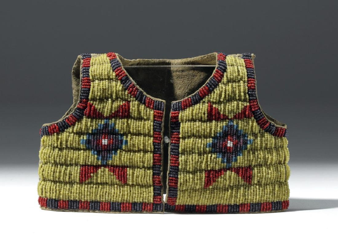Early 20th C. Plains Indian Beaded Doll Vest