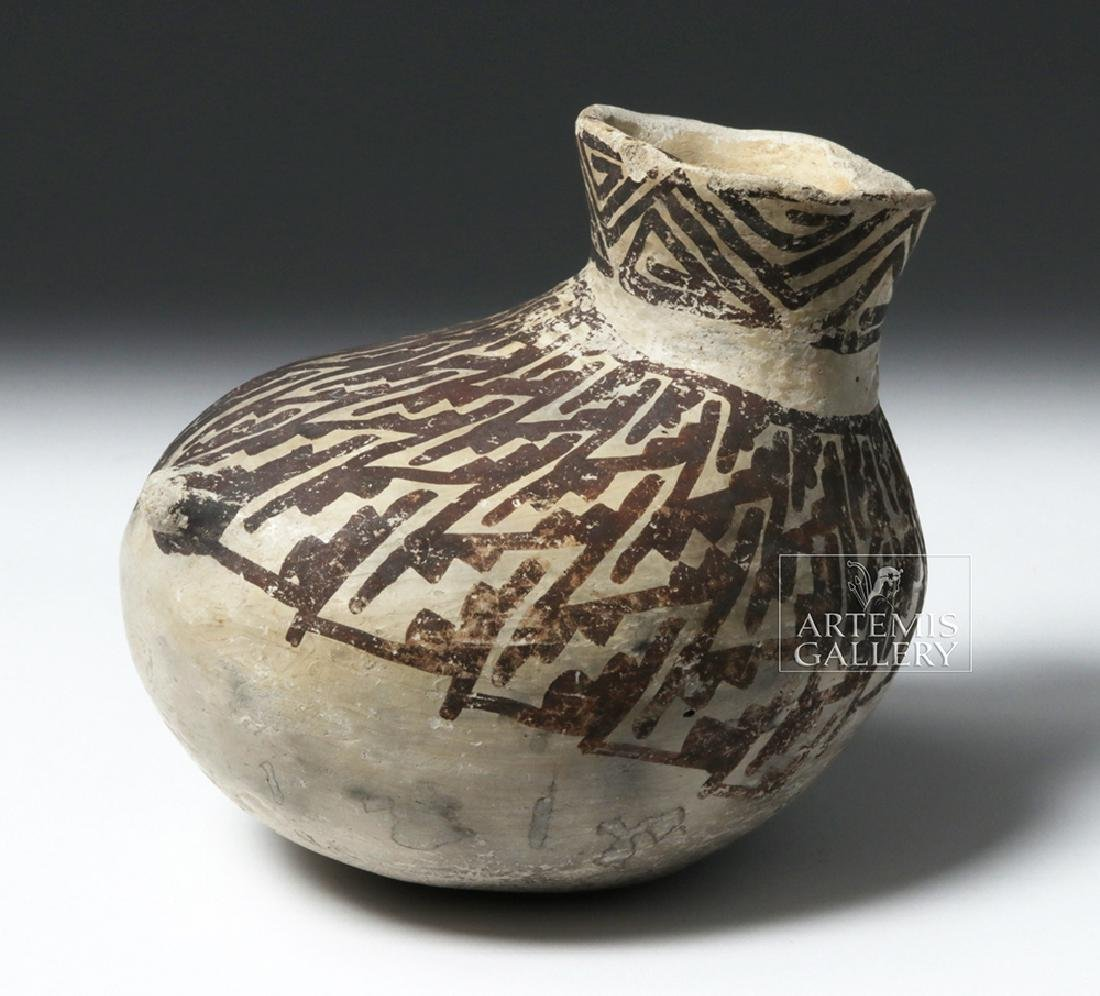 Fine Anasazi Black-on-White Pottery Askos - ex Museum - 3