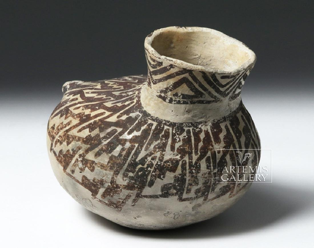 Fine Anasazi Black-on-White Pottery Askos - ex Museum - 4