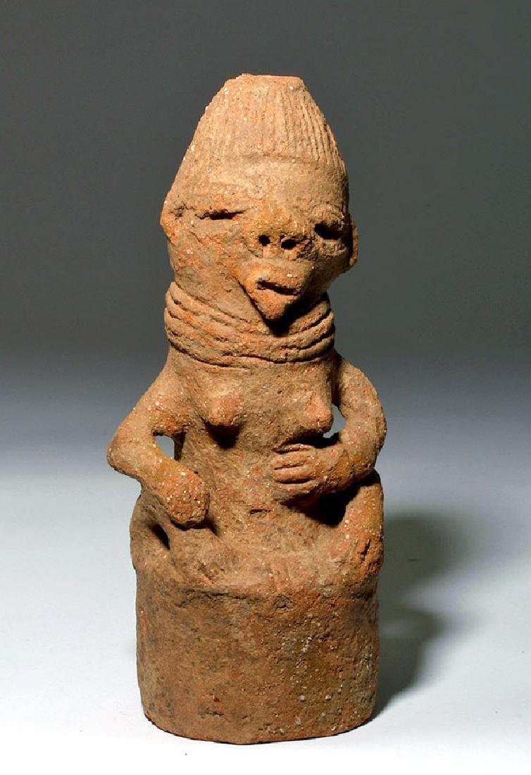 Katsina Female Anthropomorphic Lid of Funerary Vessel