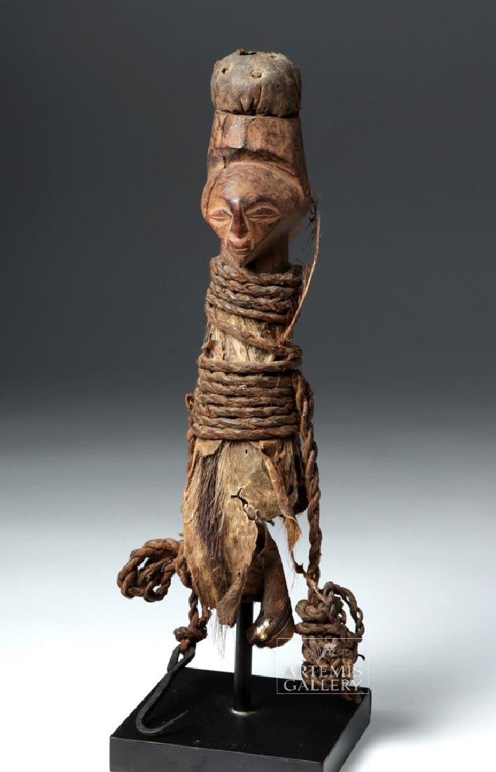 Early 20th C. Luba / Hemba Janiform Magic Charm Figure