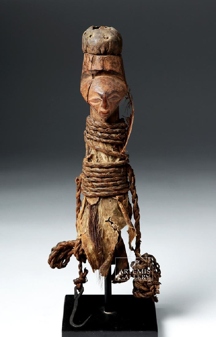 Early 20th C. Luba / Hemba Janiform Magic Charm Figure - 2