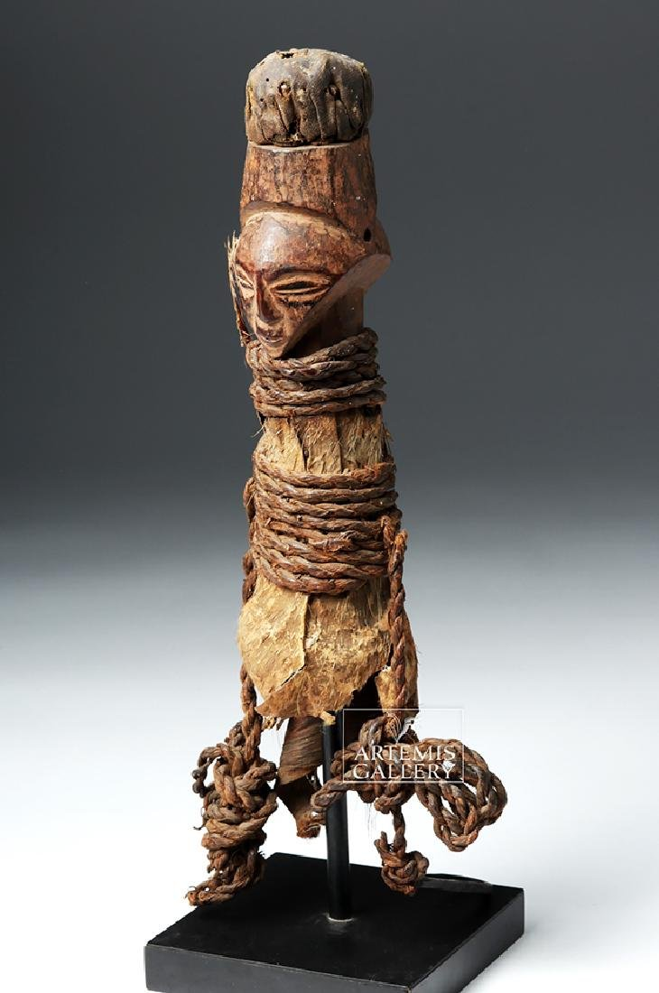 Early 20th C. Luba / Hemba Janiform Magic Charm Figure - 4