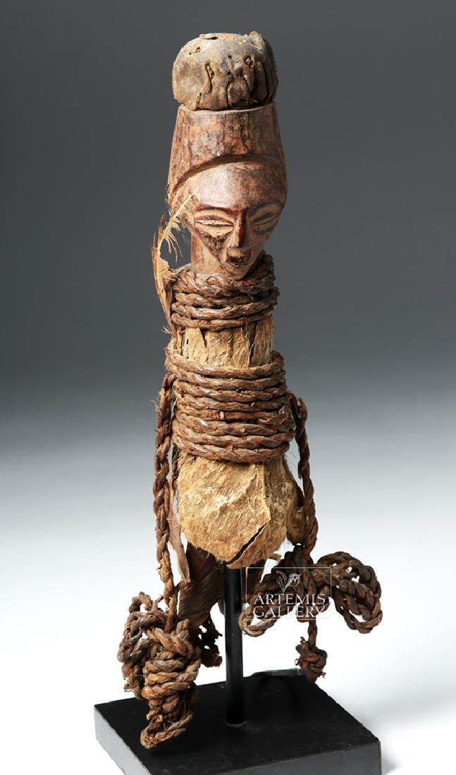 Early 20th C. Luba / Hemba Janiform Magic Charm Figure - 5